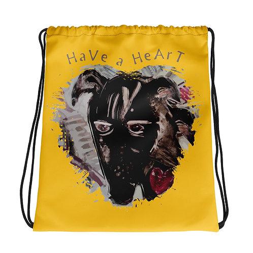 Save Animals / 2 N 1 / Drawstring Bag / Yellow