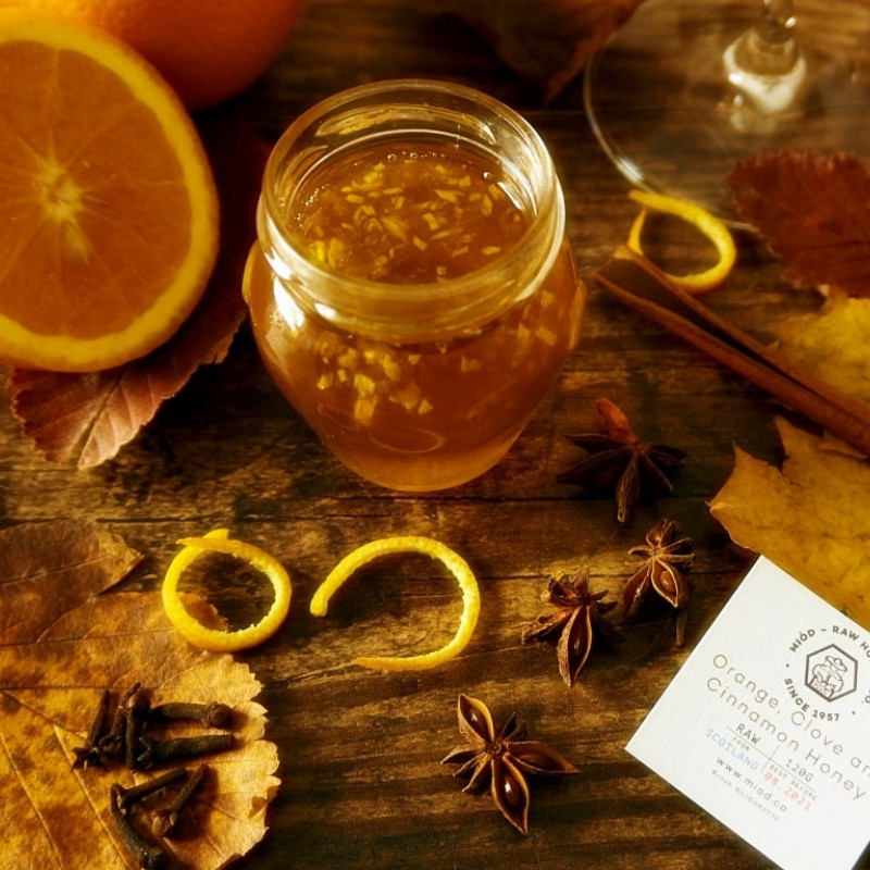 Orange Cinnamon and Clove Honey by Miod Raw Honey Co.