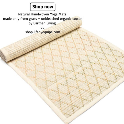 Build Your Home Yoga Sanctuary With Natural Handwoven Yoga Mats by Earthen Living