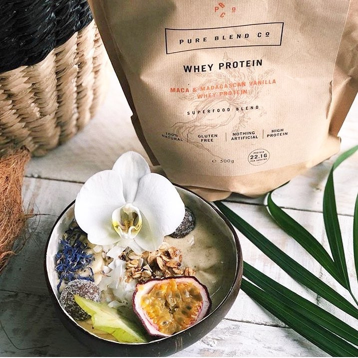 Maca + Vanilla Whey Protein Blend by Pure Blend Co