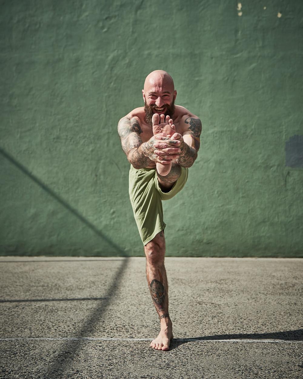 Organic cotton yoga shorts by So We Flow, Men's yoga & movement clothing