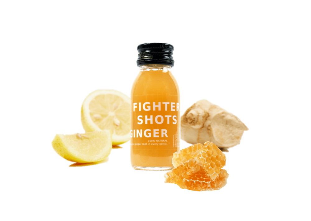 100% Natural Cold Pressed Ginger Health Shots by Fighter Shots