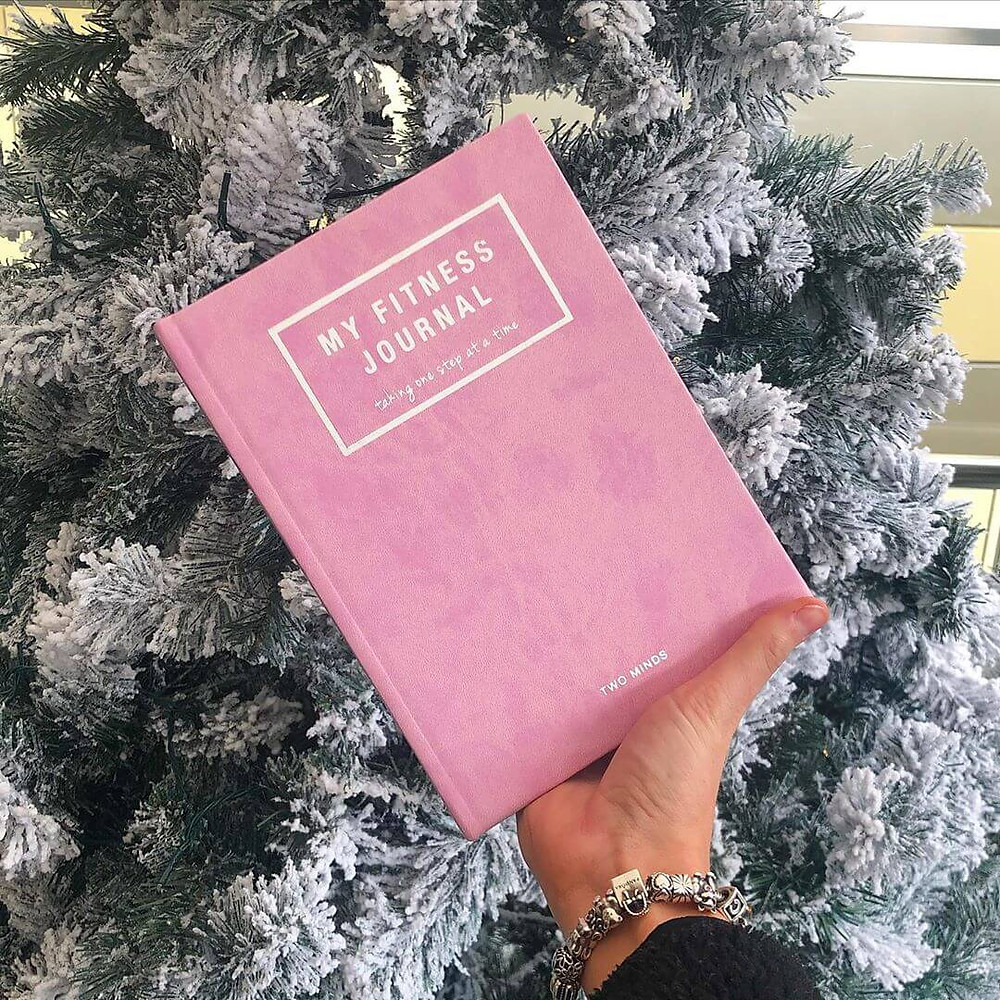 Two Minds Fitness Journal Motivational hardback 52-week journal designed to track your fitness and wellbeing goals and to help you benefit from seeing your progress measurements
