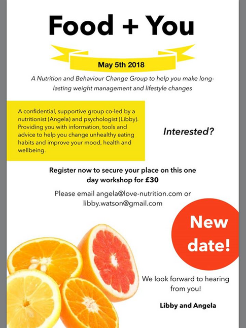 Food+You Workshop, May 18: Make Lasting Weight Management & Lifestyle Changes