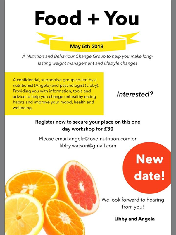 Food+You Workshop - Make lasting weight management & lifestyle changes