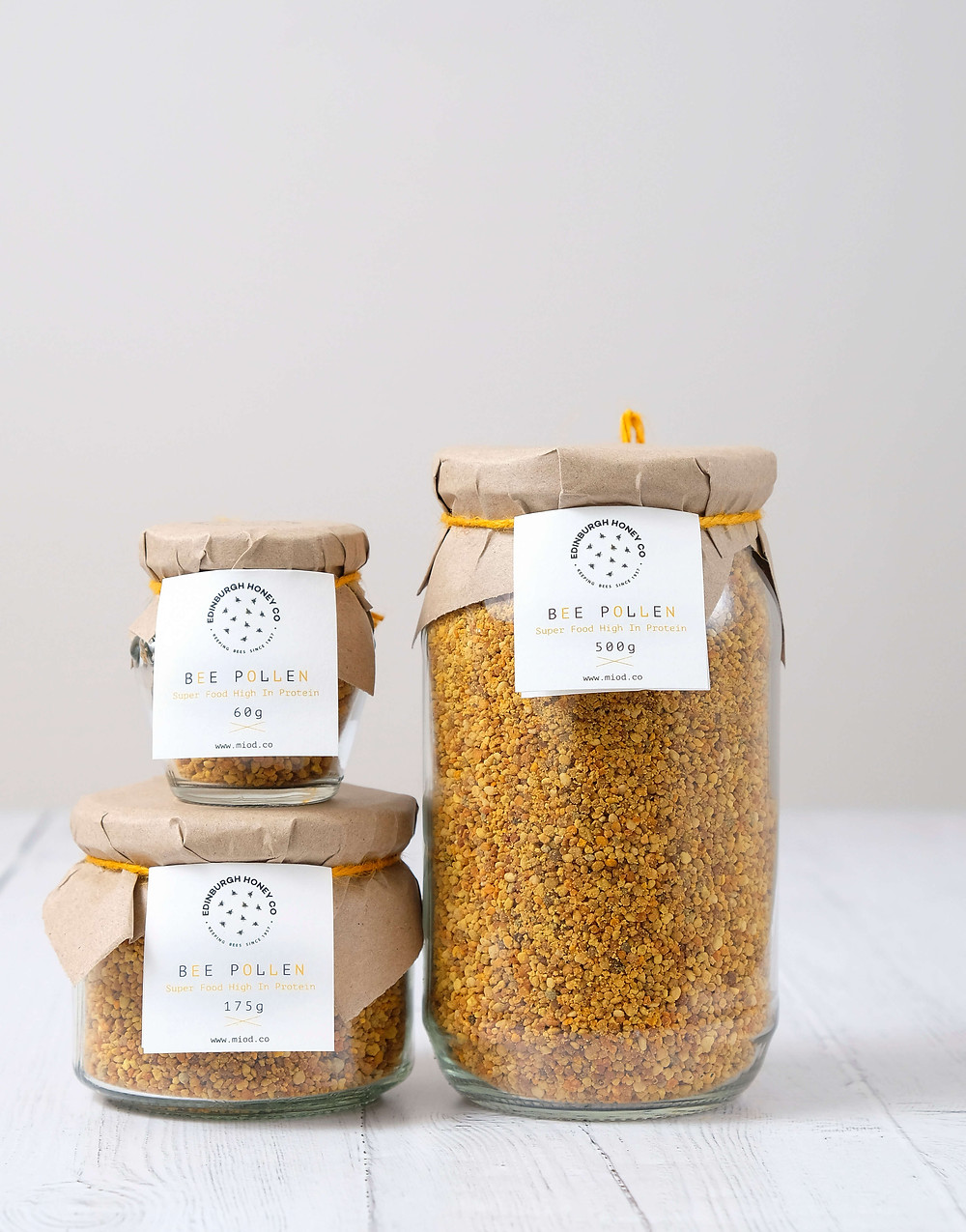 Bee Pollen - high protein, nutrient-rich for natural allergy relief.