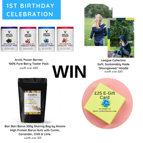 WIN Sustainably Made Hoodie, Nutrient-Rich Pure Berry Bundle, Sharing Bag Size Barus Kinomi Nuts + £