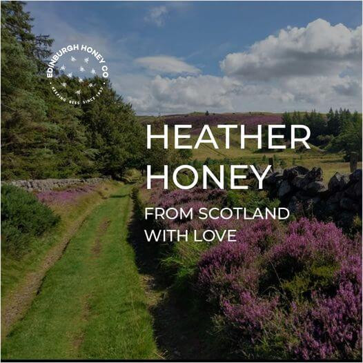 Edinburgh Honey Co. Your Source of natural Honey & Bee Pollen straight from the hives by Edinburgh based beekeepers and honey merchants. Honey is simply filtered through muslin cloth and jarred right away without any processing.  It is all the goodness nature has to offer in one jar.