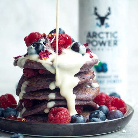 3 Pancake Recipes With Pure Berry Powder + Vegan Protein Blends