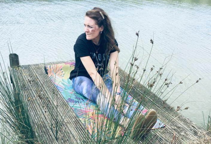 Amy Powell Willow Yoga design sustainable and environmentally friendly luxe printed yoga mats & microfibre gym towels for your daily yoga practice.