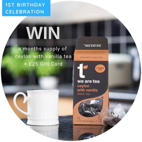 WIN A Months Supply Of Ceylon With Vanilla Tea + £25 Gift Card