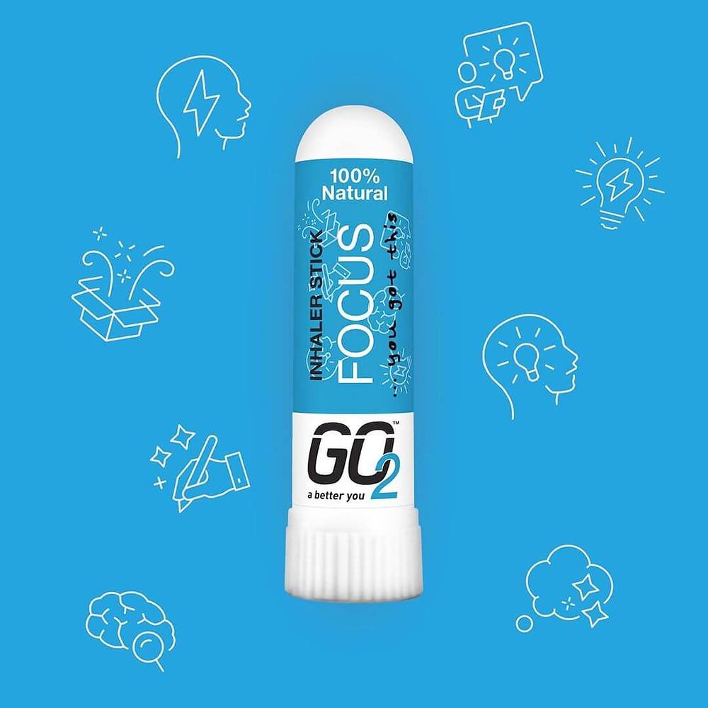 GO2 Focus 100% Natural Aromatherapy Inhaler