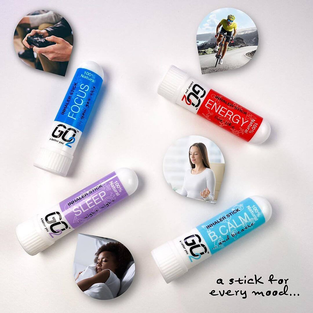 GO2 100% Natural Essential Oil Inhaler sticks
