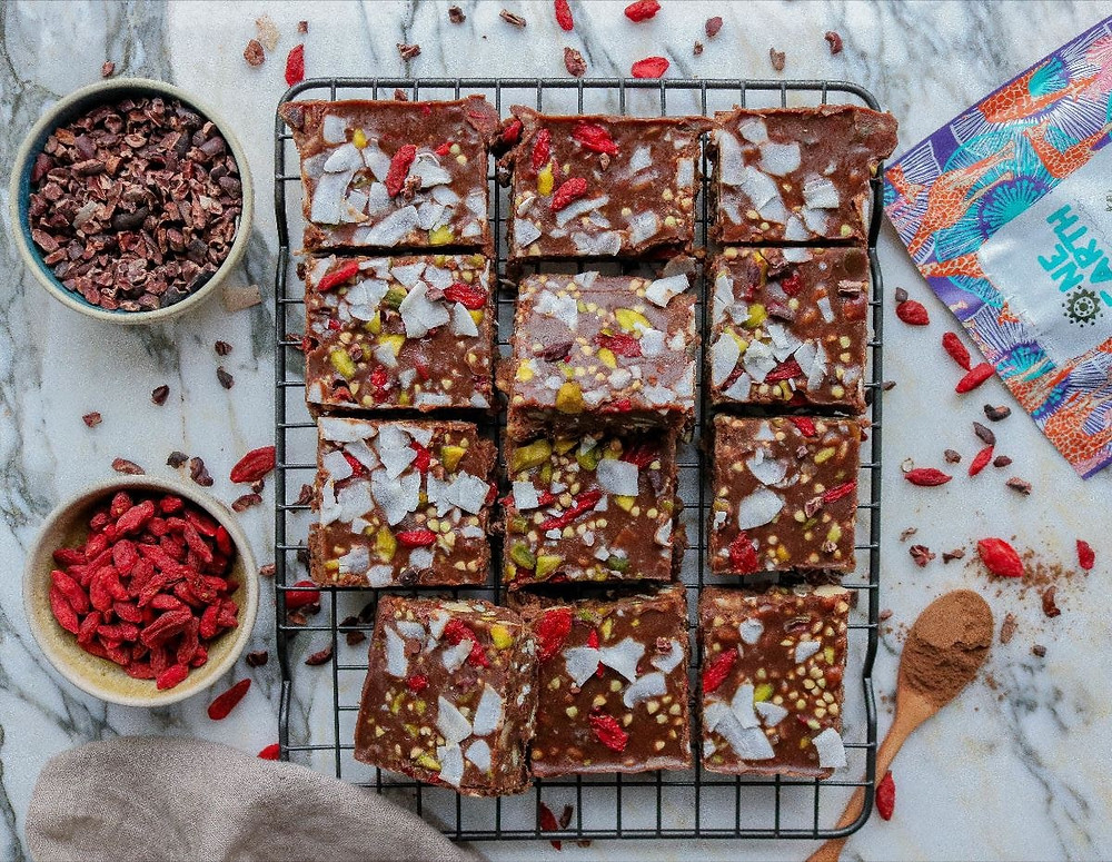Superfood Peanut Butter and Chocolate Fudge Bites Recipe by One Earth Organics