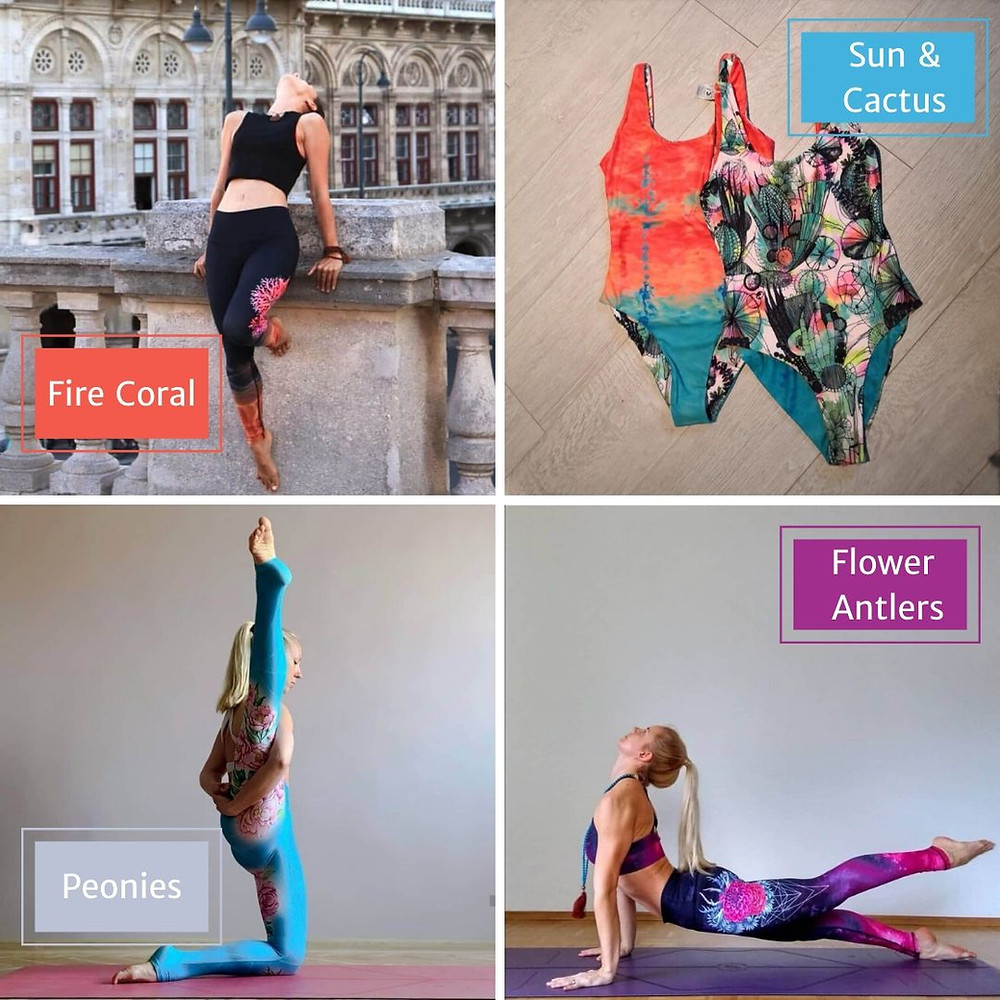 Yogacycled - from waste to wear! A female-founded activewear brand using recycled plastic water bottles that would end up on the landfills otherwise, to produce comfortable and sustainable activewear and swimwear in mega-watt colours and unique designs