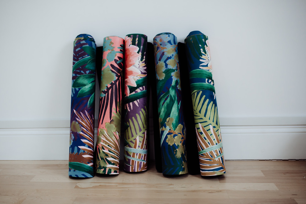 Willow Yoga design sustainable and environmentally friendly luxe printed yoga mats & microfibre gym towels for your daily yoga practice