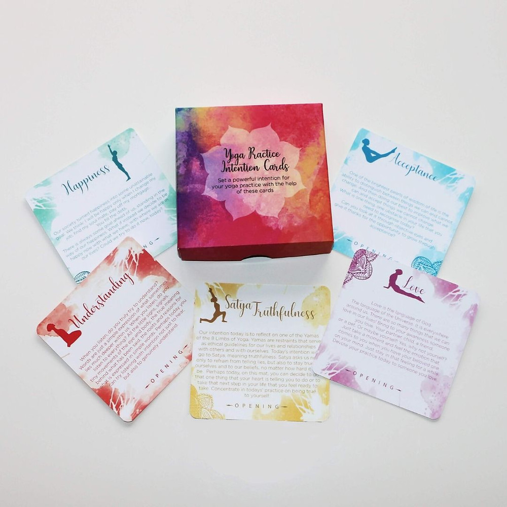 Yoga Practice Intention Cards by Ivana at shop.lifebyequipe.com