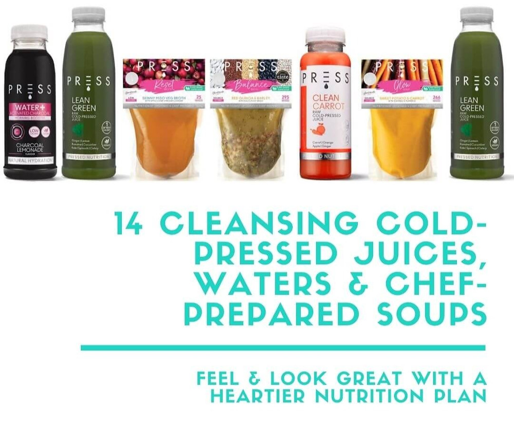 Fill Your Fridge - 14 Cleansing Cold-Pressed Juices, Waters and Chef-Prepared Soups