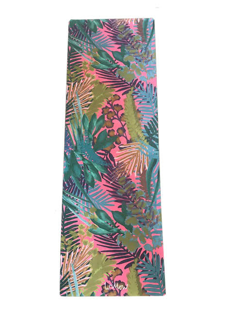 Kew Tropics Hot Pink Yoga Mat - Willow Yoga