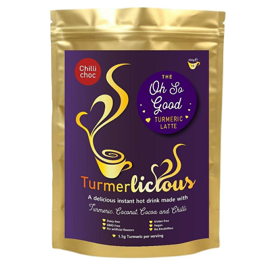 Chilli Choc Turmeric Latte - Instant Drink 200g - Dairy Free
