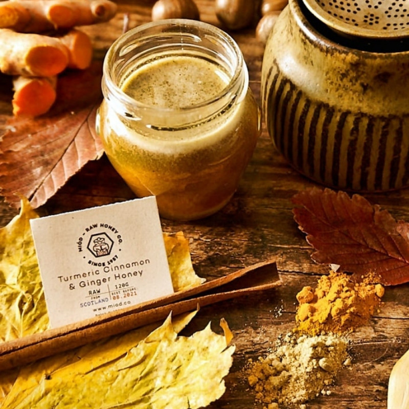 Turmeric Cinnamon and Ginger Honey by Miod Raw Honey Co.