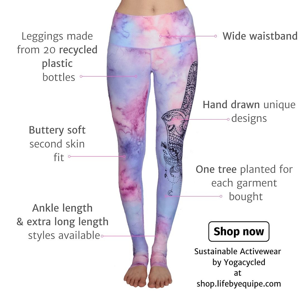 Yogacycled Yogacycled - from waste to wear! A female-founded activewear brand using recycled plastic water bottles that would end up on the landfills otherwise, to produce comfortable and sustainable activewear and swimwear in mega-watt colours and unique designs
