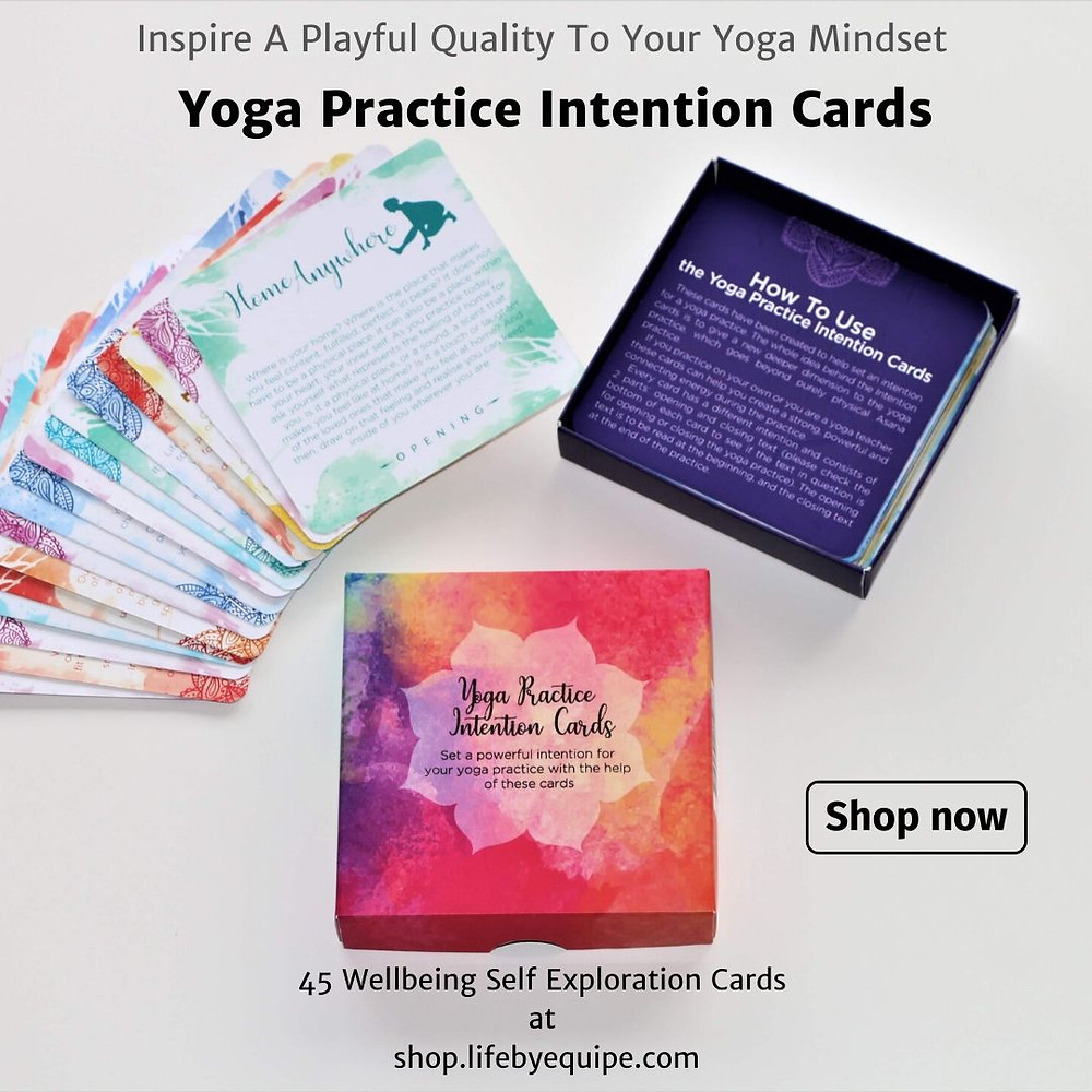 Yoga Practice Intention Cards by Ivana