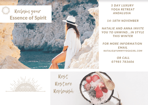 Rest, Restore & Replenish Winter Sun Yoga Retreat: South Spain, 14-18 Nov 2019