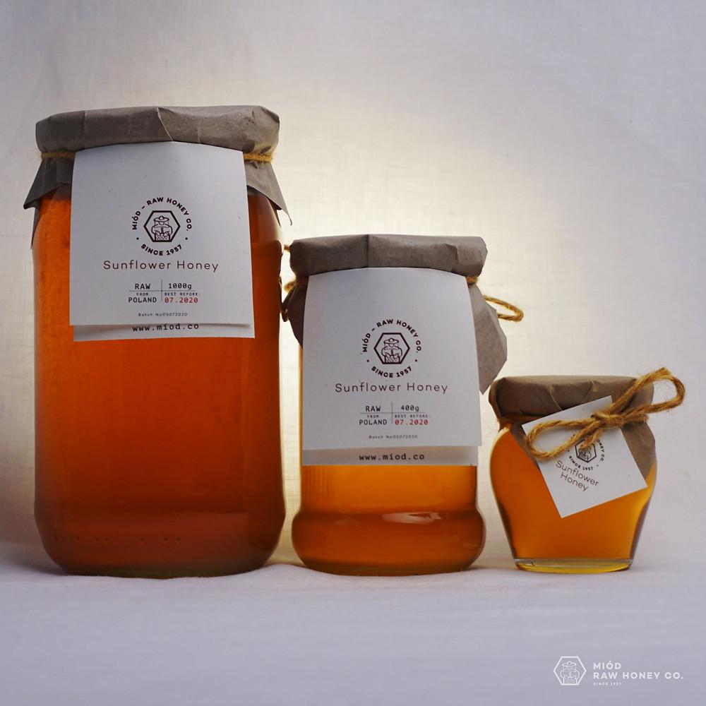 Raw Sunflower Honey by Miod Raw Honey co.
