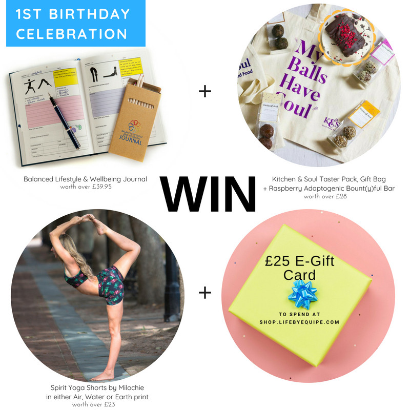 Win Wellbeing Journal, Yoga Shorts, Taster Pack of Good Mood Food + £25 Gift Card for shop.lifebyequipe.com