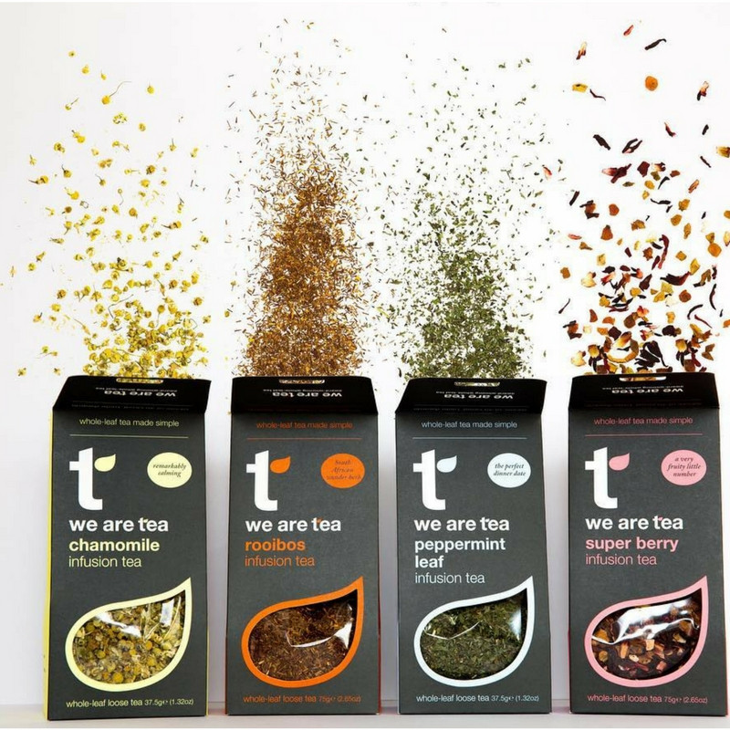 Chamomile, Rooibos, Peppermint, Super Berry