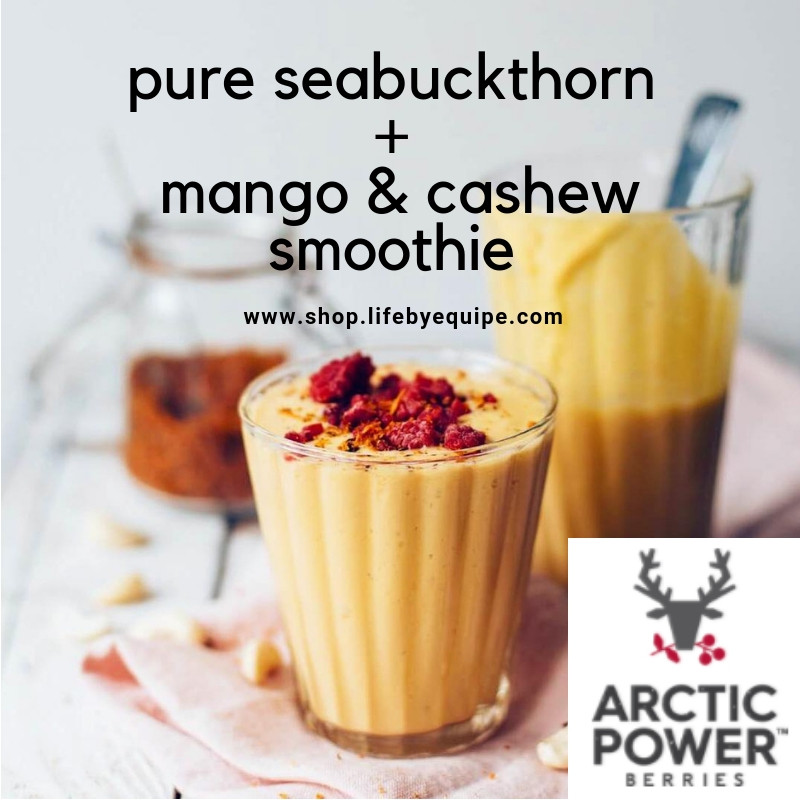 Pure Seabuckthorn Mango & Cashew Smoothie Recipe with Pure Sea Buckthorn Powder (50g)