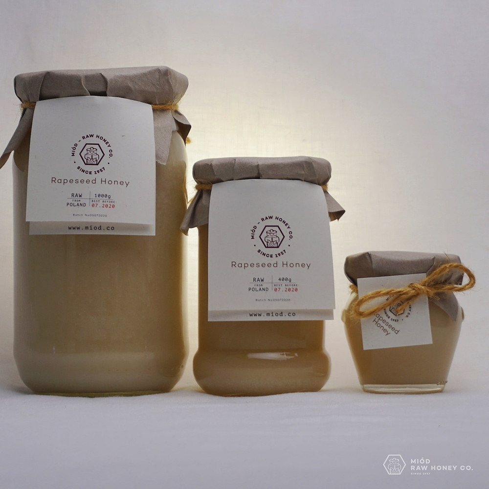 Raw Rapeseed Honey by Miod Raw Honey Co.