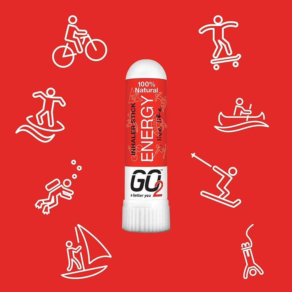 GO2 Energy 100% Natural Aromatherapy Inhaler