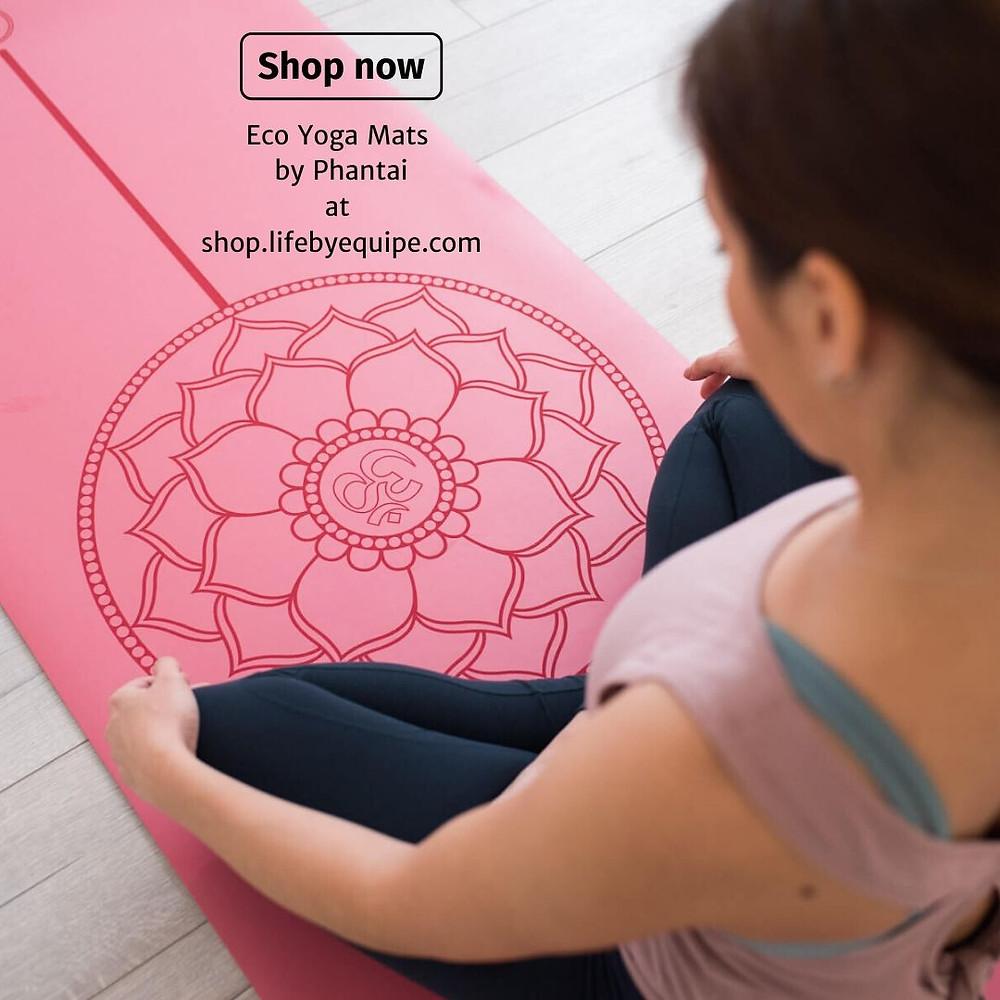 Making A Zen Den? Natural Rubber Non Slip Eco Yoga Mats by Phanti
