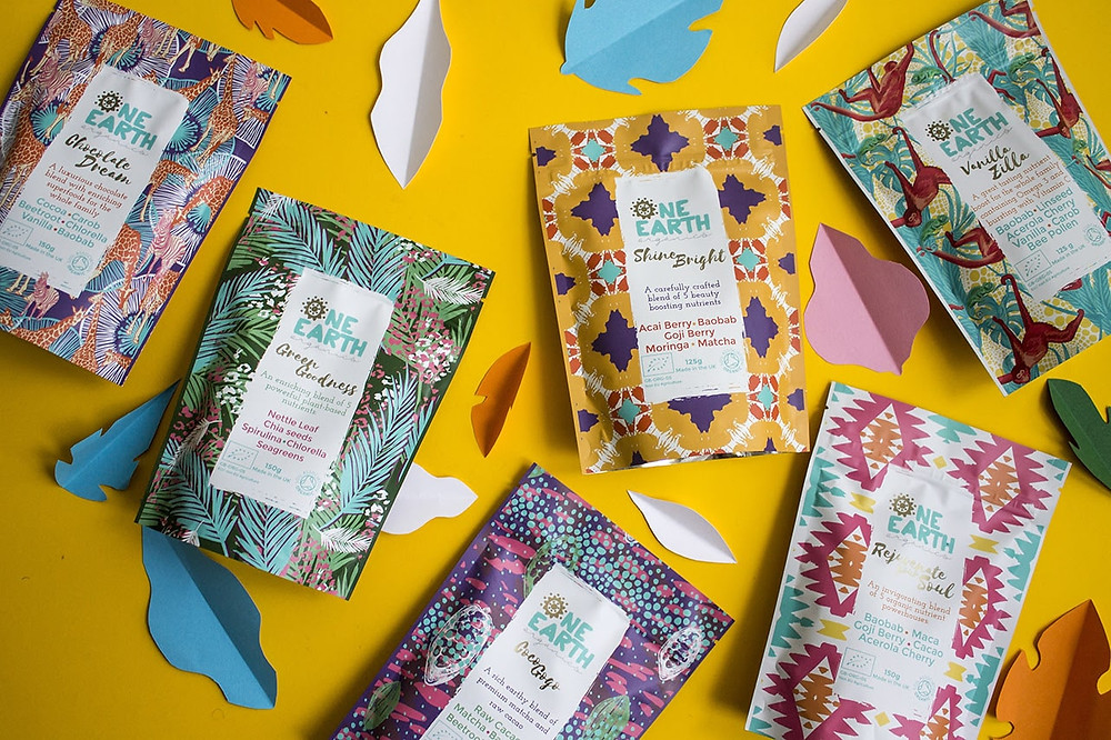 one-earth-organics smoothie, latte and superfood blends