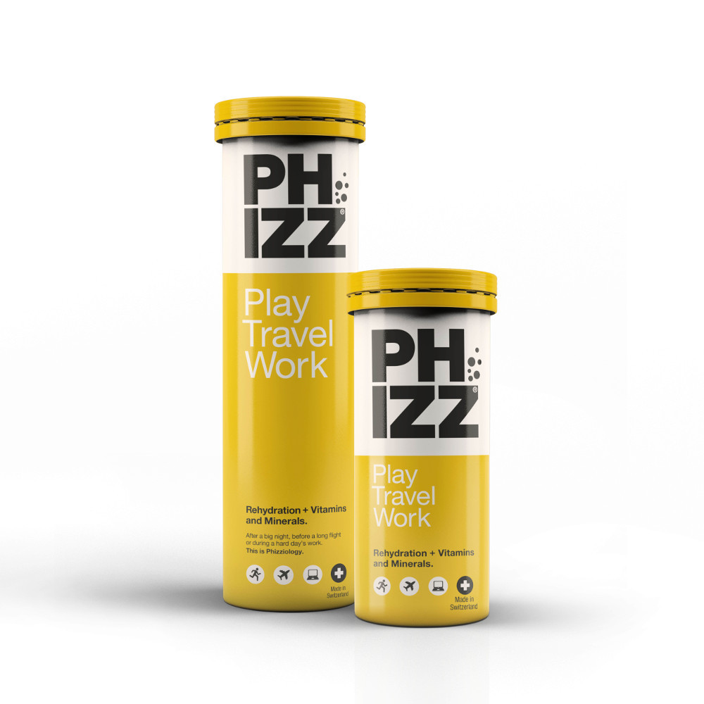 Rehydration + Vitamins and Minerals in an effervescent tablet for improved energy, hydration & health - Phizz