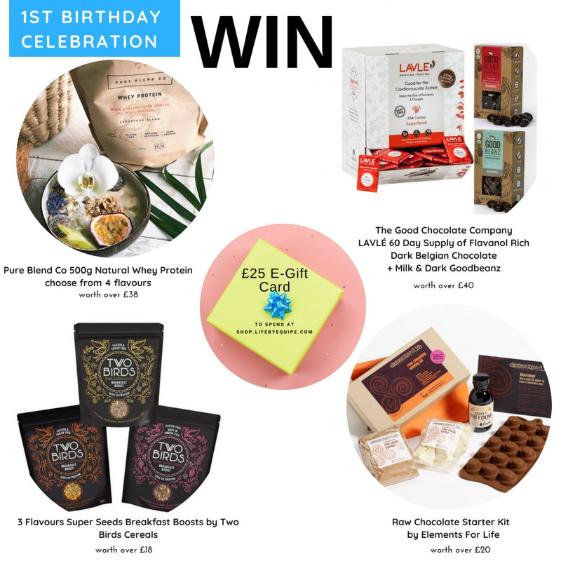 WIN Natural Whey Protein, Super Seeds Breakfast Boosts, 60 Day Flavanol-Rich Belgian Choc, Raw Choc Making Kit + £25 Gift Card