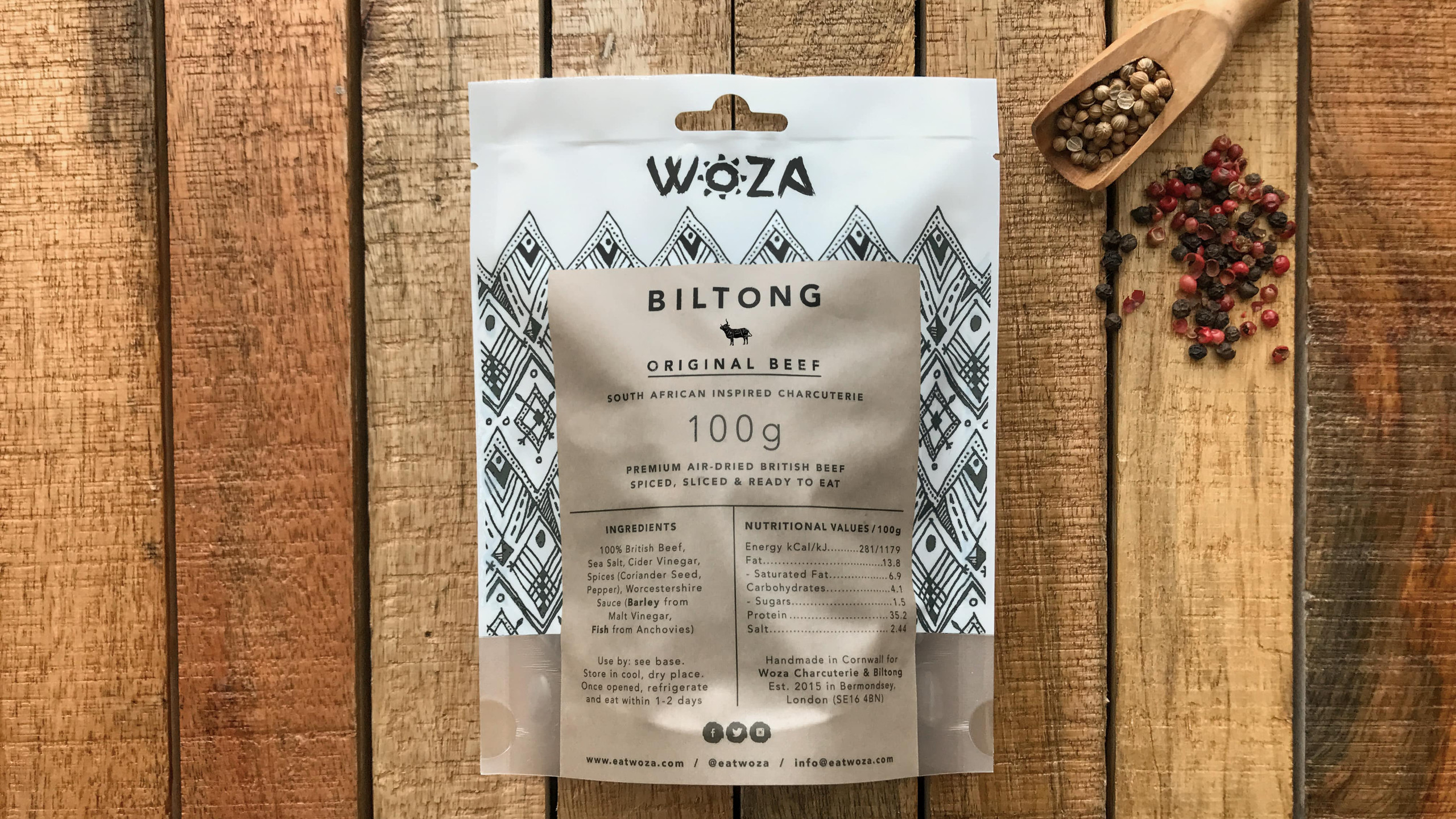 Original Beef Biltong by Woza