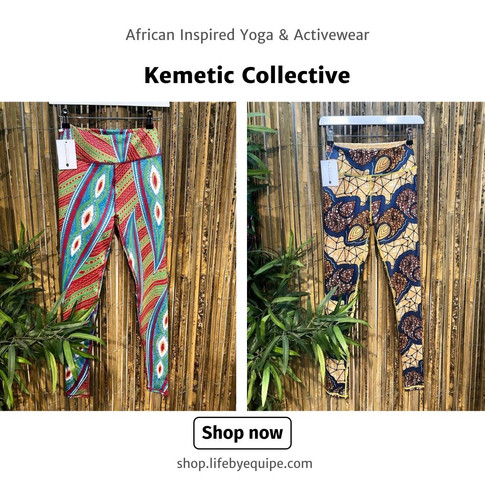 Ultra High-Waist African Inspired Yoga & Activewear by Kemetic Collective