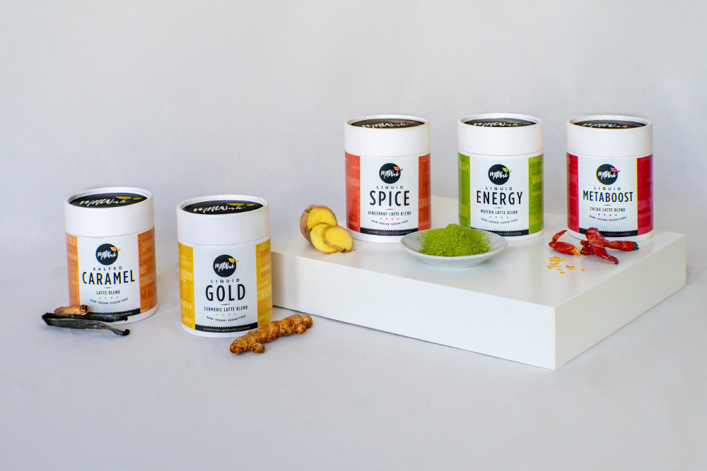MAWish Food Raw, innocent and indulgent Vegan Superfood Latte Collection