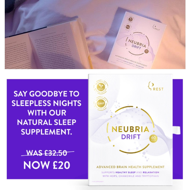 Neubria Drift advanced health supplement for relaxation and sleep