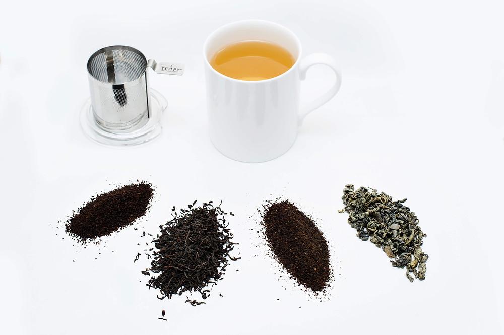 TEAPY® Ceramic Mug Bundle with 4 x 10g Loose Leaf Tea Flavours