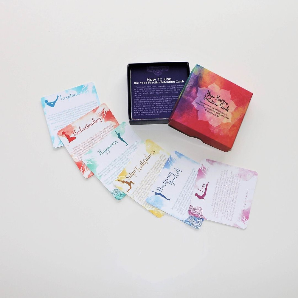 Yoga Practice Intention Cards