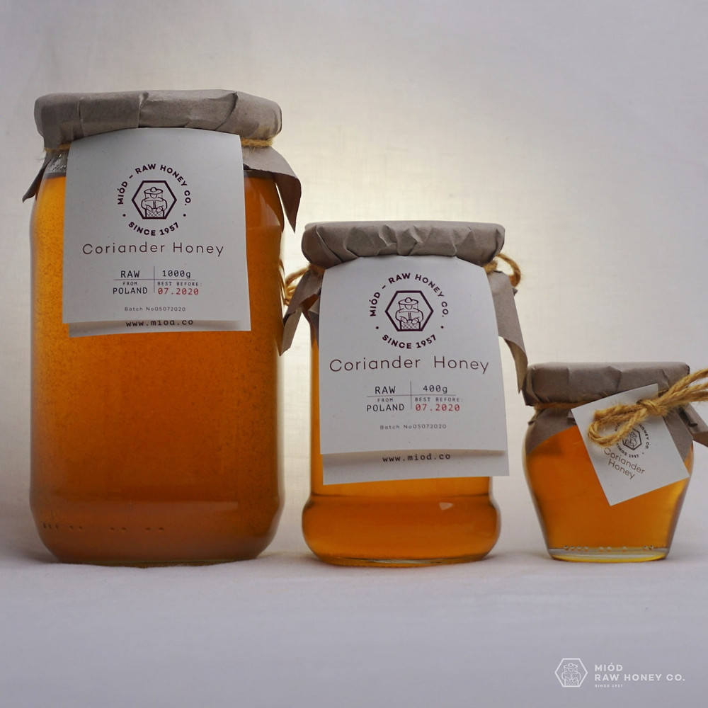 Raw Coriander Honey by Miod Raw Honey Co