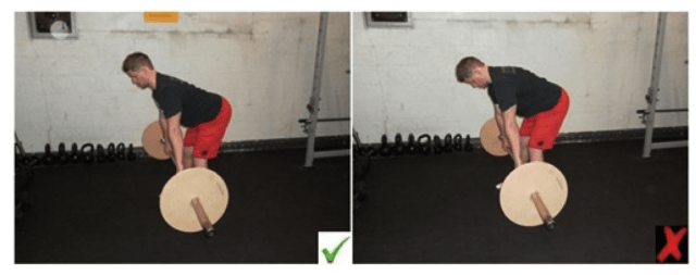 Right and wrong way to lower the bar in a deadlift