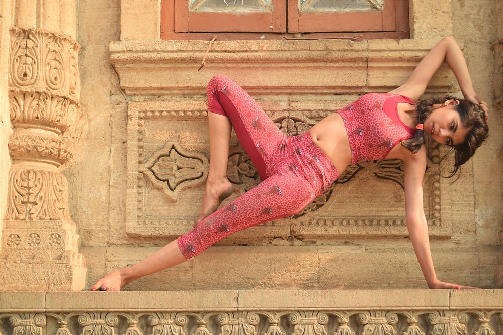 Jaipur Eco Yoga Capris by Milochie