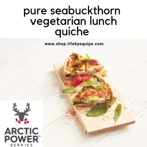 Pure Seabuckthorn Vegetarian Quiche Recipe