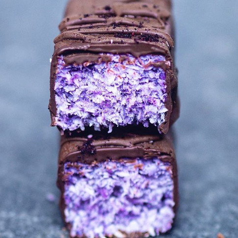 Vegan Bounty Bars with Arctic Blueberry Powder Recipe