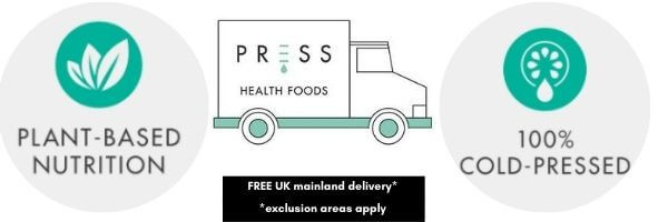 PRESS Health Foods 100% Plant-based, premium health food nutrition plans and groceries, delivered fresh to your door